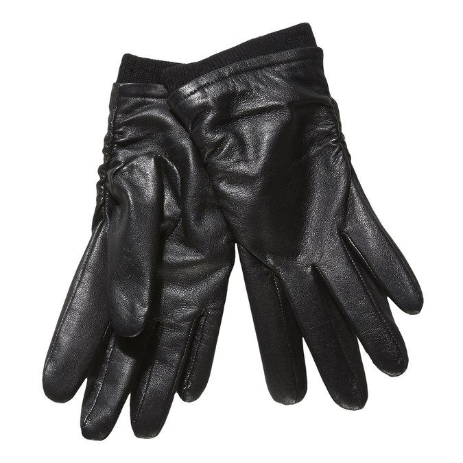 Damen-Lederhandschuhe bata, Schwarz, 904-6107 - 13