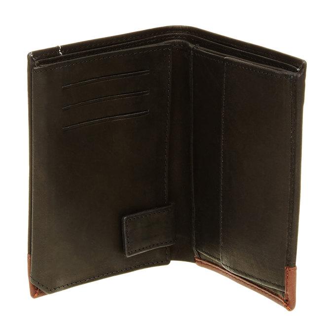 Herren-Geldbörse aus Leder bata, Schwarz, 944-6150 - 16