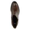 Leder-Stiefeletten mit Reissverschluss bata, Braun, 694-4600 - 19