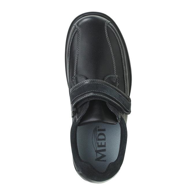 Leder-Sneakers, Schwarz, 834-6001 - 19
