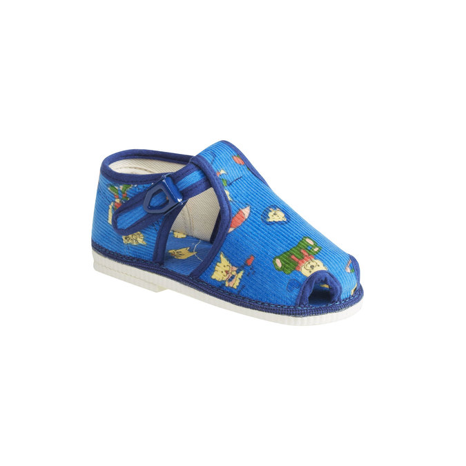Knöchelhohe Kinder-Hausschuhe bata, Blau, 179-9210 - 13
