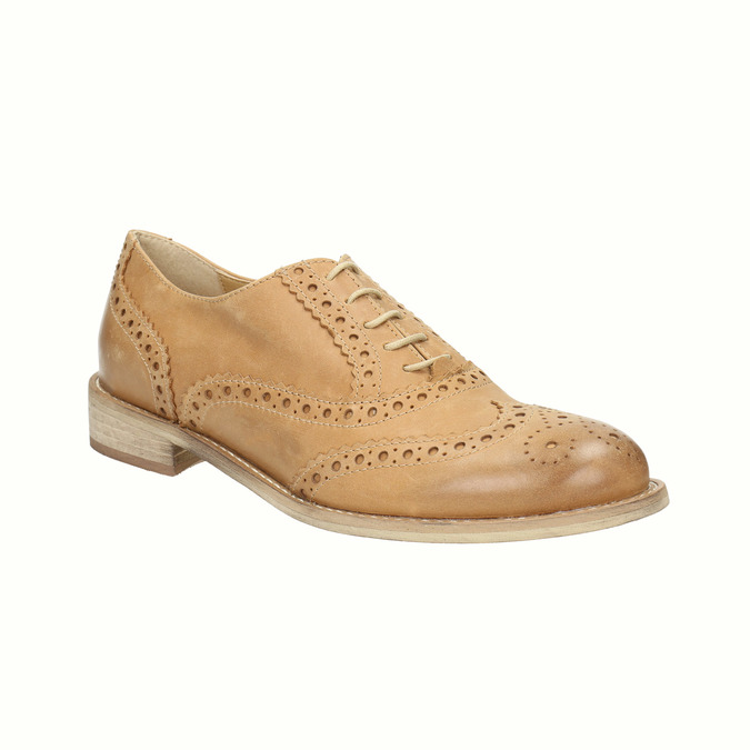 Oxford-Schuhe aus Leder mit Brogue-Verzierung bata, Braun, 524-3482 - 13