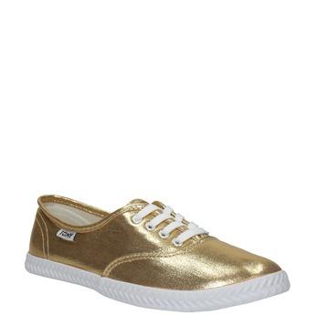 Goldene Damen-Sneakers tomy-takkies, Gold, 519-8690 - 13