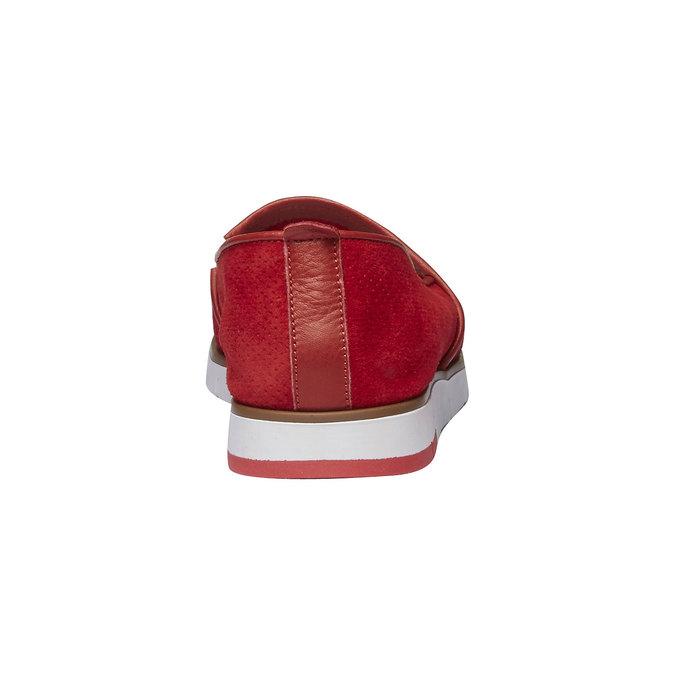 Slip-Ons aus Leder mit Perforation flexible, Rot, 513-5200 - 17