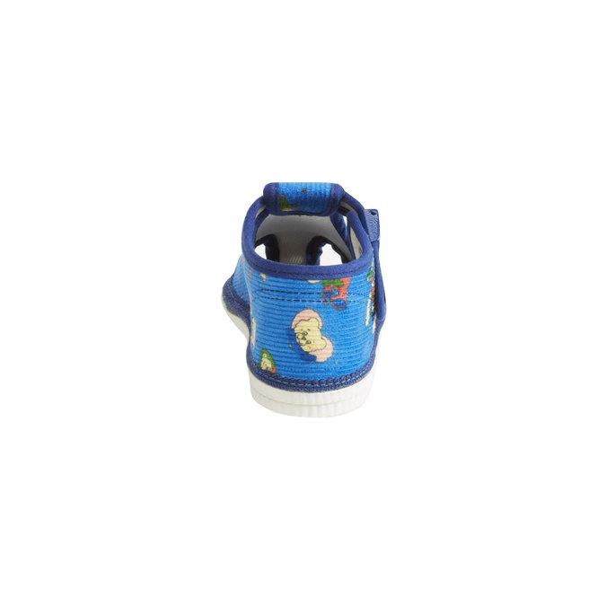 Knöchelhohe Kinder-Hausschuhe bata, Blau, 179-9210 - 17