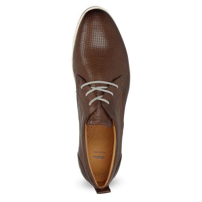 Lässige Leder-Sneakers bata, Braun, 824-4124 - 17
