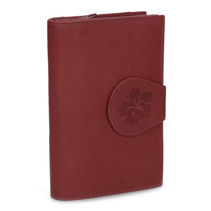 Damen-Geldbörse aus Leder bata, Rot, 944-5155 - 13
