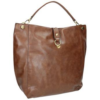 Braune Handtasche im Hobo-Stil bata, Braun, 961-3808 - 13