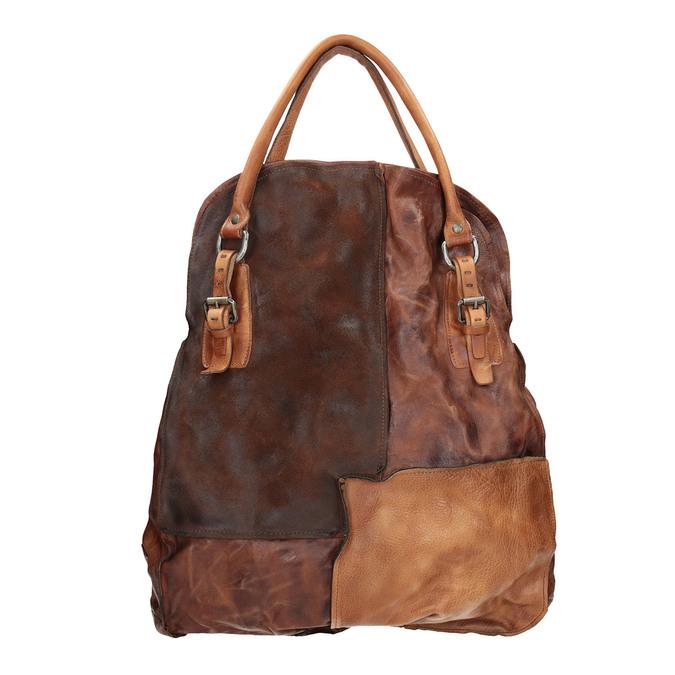 Handtasche aus Leder mit festen Henkeln a-s-98, 966-0001 - 26