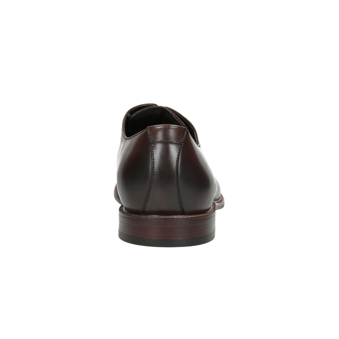 Braune Lederhalbschuhe bata, Braun, 824-4684 - 17