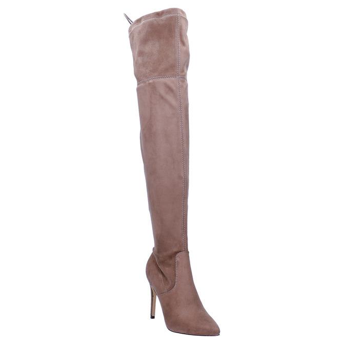 Damen-Overknee-Stiefel bata, Braun, 799-3600 - 13