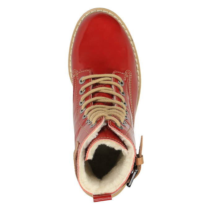 Knöchelschuhe aus Leder mit transparenter Sohle weinbrenner, Rot, 598-5602 - 19