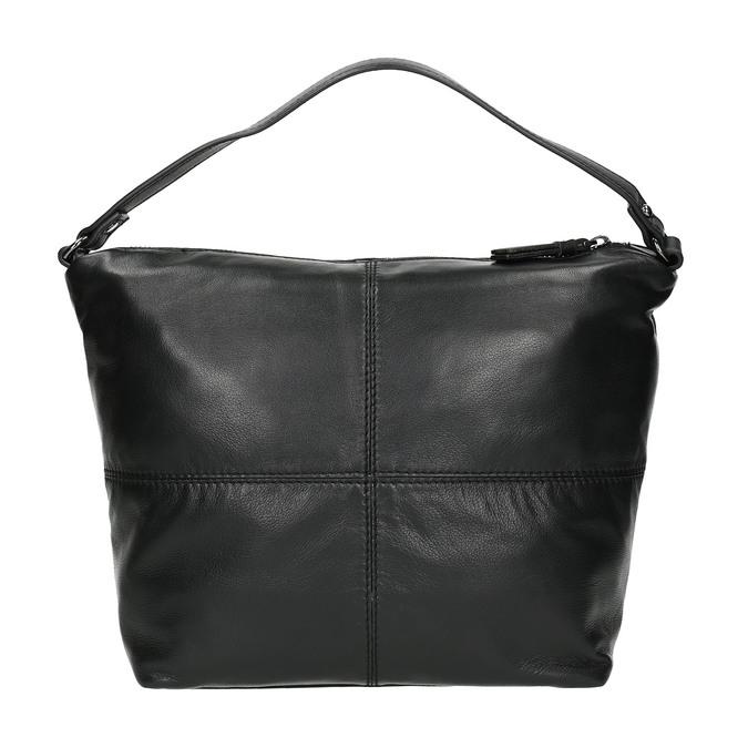Lederhandtasche mit abnehmbarem Gurt, Schwarz, 964-6233 - 19