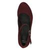 Weinrote Lederpumps mit einem Riemchen über den Spann bata, Rot, 729-5601 - 19