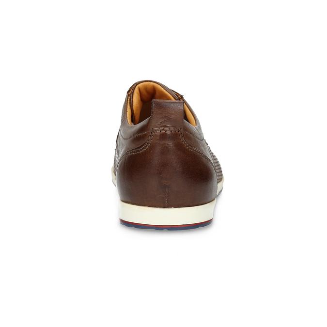 Lässige Leder-Sneakers bata, Braun, 824-4124 - 15