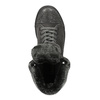 Knöchelhohe Leder-Sneakers mit Fell bata, Grau, 593-2601 - 19