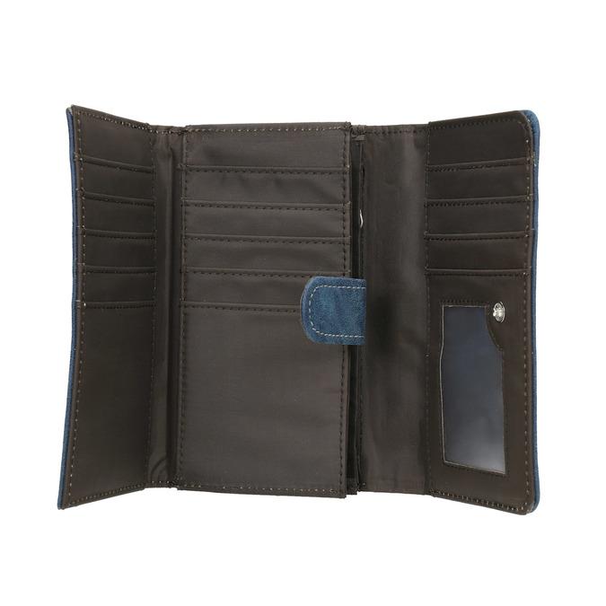 Blaue Damen-Geldbörse, Blau, 941-9153 - 15