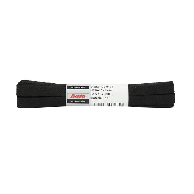 Schwarze Schnürsenkel aus Baumwolle, Schwarz, 901-6121 - 13