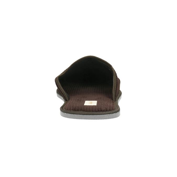 Herren-Hausschuhe mit voller Spitze bata, Braun, 879-4609 - 17