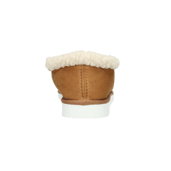 Damenpantoffeln mit Kunstfell bata, Braun, 579-8612 - 17