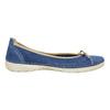Legere Ballerinas aus Leder weinbrenner, Blau, 526-9503 - 15