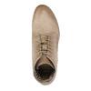 Leder-Knöchelschuhe mit Perforationsmuster bata, Braun, 596-4646 - 19