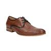 Lederhalbschuhe mit Muster bata, Braun, 826-3813 - 13