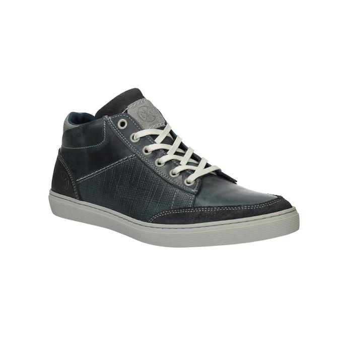 Knöchelhohe Herren-Sneakers aus Leder bata, Blau, 844-9631 - 13