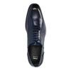 Blaue Lederhalbschuhe im Oxford-Look bata, Blau, 826-9822 - 19
