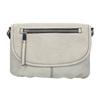 Crossbody-Handtasche mit perforierter Klappe bata, Grau, 961-2709 - 26