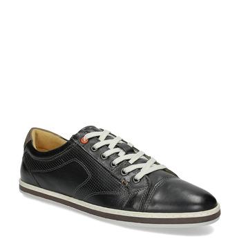 Herren Leder-Sneakers bata, Schwarz, 846-6617 - 13