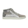 Knöchelhohe Leder-Sneakers mit Muster bata, Grau, 526-2614 - 15