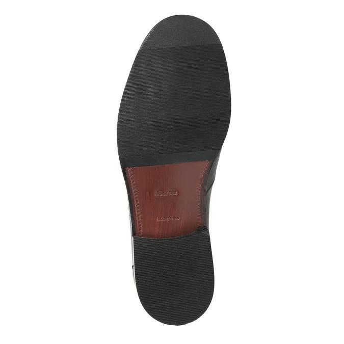 Herren-Loafers aus Leder bata, Schwarz, 814-6621 - 26