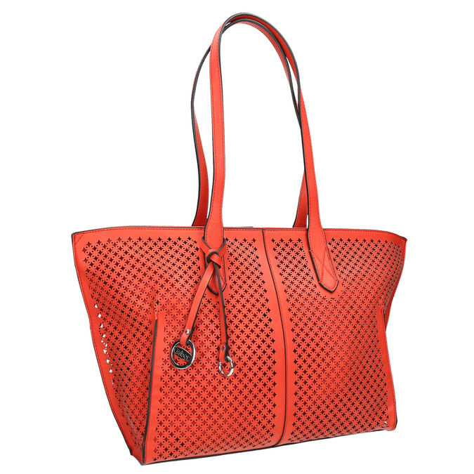 Rote Handtasche mit Perforation gabor-bags, Rot, 961-5080 - 13