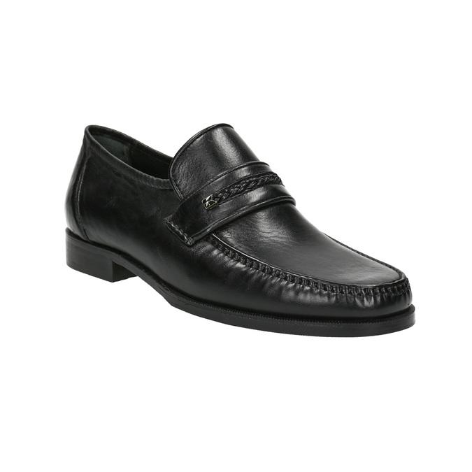 Herren-Loafers aus Leder bata, Schwarz, 814-6621 - 13