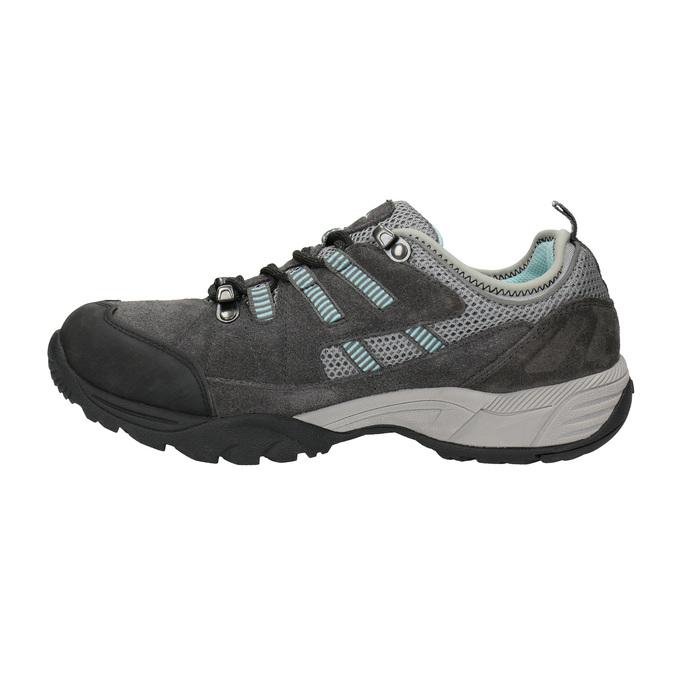 Damen-Outdoor-Schuhe aus Leder power, Grau, 503-2118 - 26