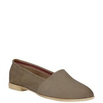 Damen Slip-Ons aus Leder bata, Braun, 516-2602 - 13
