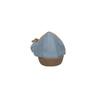 Blaue Leder-Ballerinas mit elastischem Rand bata, Blau, 526-9617 - 17