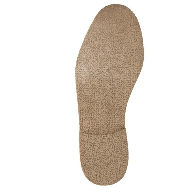 Braune Lederhalbschuhe mit markanter Steppung bata, Braun, 826-4815 - 26