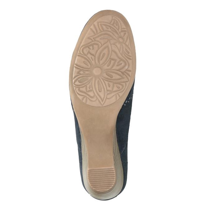 Damen-Leder-Mokassins der Weite H bata, Blau, 523-9603 - 26