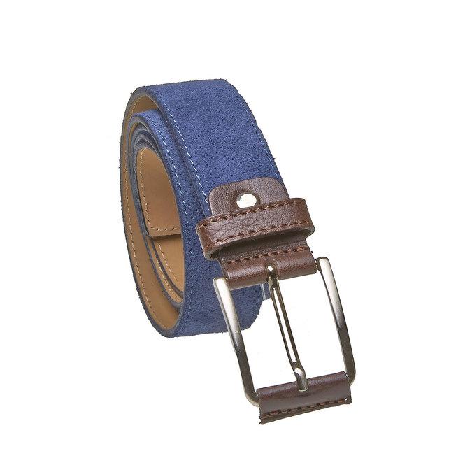 Ledergürtel mit Perforation, Blau, 953-9325 - 13