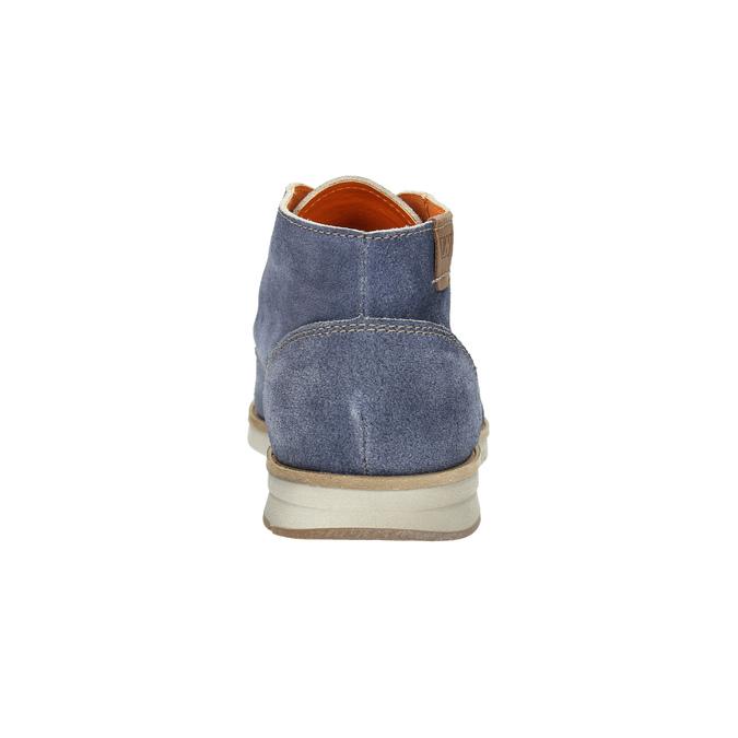 Knöchelschuhe aus geschliffenem Leder weinbrenner, Blau, 843-9625 - 17