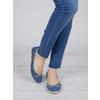 Legere Ballerinas aus Leder weinbrenner, Blau, 526-9503 - 18