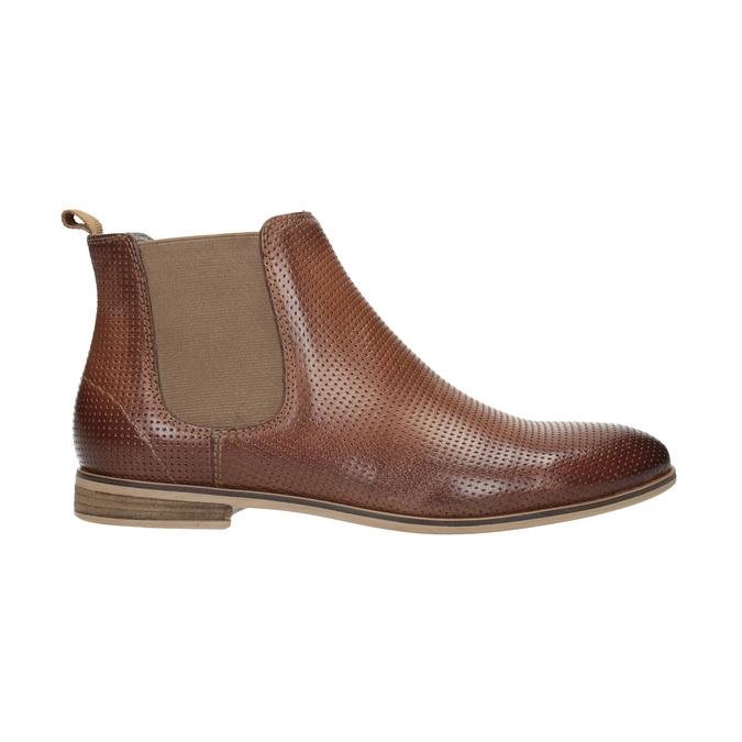 Knöchelhohe Chelsea Boots aus Leder mit Perforation bata, Braun, 596-4644 - 15