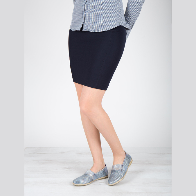 Damenschuhe im Slip-On-Stil bata, Blau, 516-9604 - 18