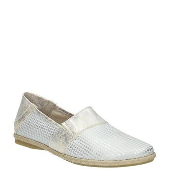 Damen-Slip-Ons aus Leder bata, Weiss, 516-1604 - 13