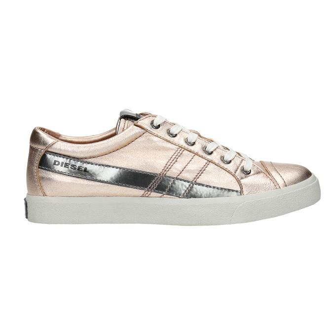 Damen-Sneakers aus Leder mit Steppnaht diesel, Rosa, 584-8438 - 15