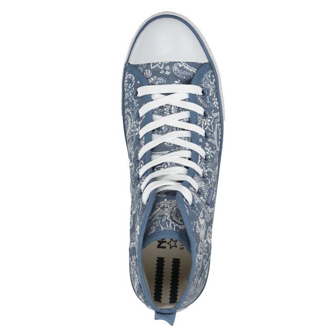 Knöchelhohe Damen-Sneakers mit Muster north-star, Blau, 589-9442 - 19