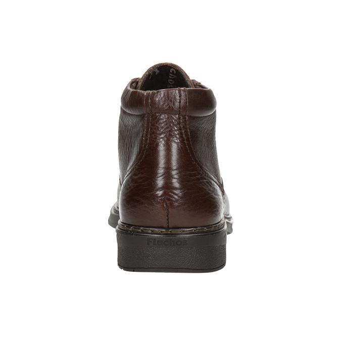 Knöchelschuhe aus Leder fluchos, Braun, 824-4450 - 17