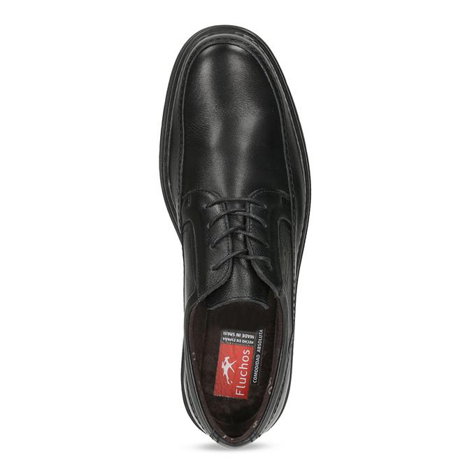 Herrenhalbschuhe aus Leder fluchos, Schwarz, 824-6448 - 17